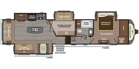 montana travel trailer floor plans full specs for 2017 keystone montana 3950br rvs rvusa com