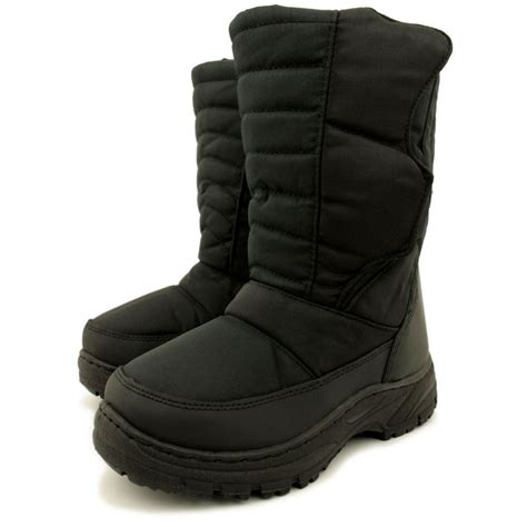 black winter boots womens black winter snow moon ski boots from buy uk