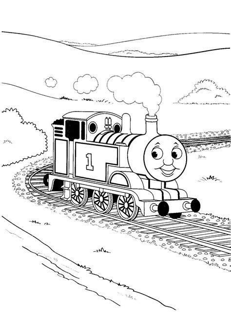 thomas free colouring pages