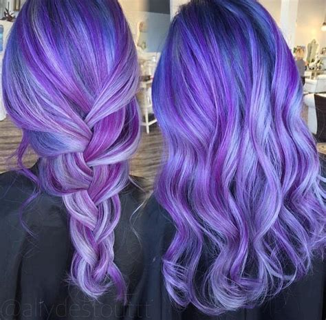 dyed hairstyles purple purple blue hair color appreciated by www