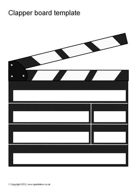 Clapper Board Template Free Editable Clapper Board Templates Sb7427 Sparklebox