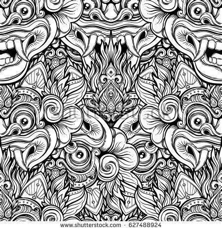 tattoo bali odia song download barong traditional ritual balinese mask vector stock
