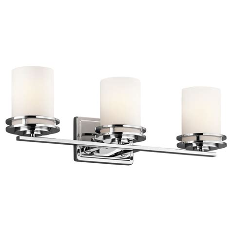Kichler 5078ch Chrome Hendrik 3 Light 24 Quot Wide Vanity Replacement Glass Shades For Bathroom Light Fixtures