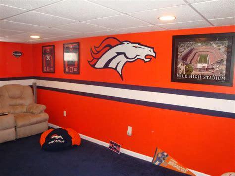 denver broncos bedroom exclusively at home depot glidden paint nfl team colors go broncos man cave