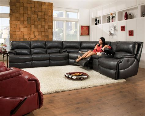 U Shaped With Recliner by The Best U Shaped Leather Sectional Sofa