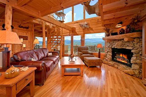Log Cabin Living Rooms by American Mountain Rentals Launches New Website For