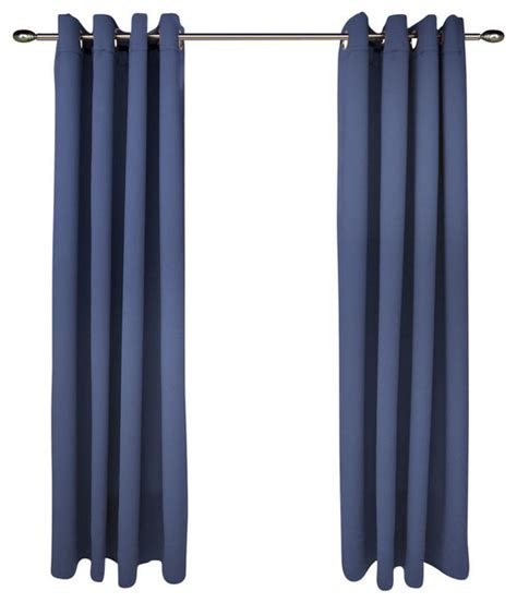 Blue Grommet Curtains Ulitimate Black Out Grommet Curtain Panel Blue 56 X 63 Traditional Curtains By Ricardo