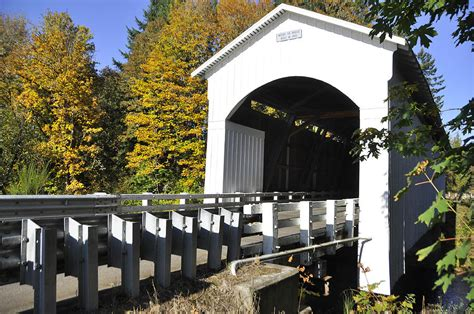 Cottage Grove Covered Bridge Tour Route by Cottage Grove Or Covered Bridge Tour Photograph By Wendy