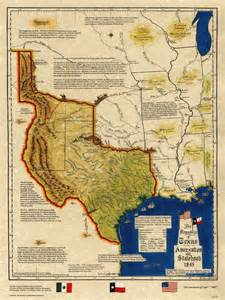 map of 1845 historical map republic of 1845 statehood