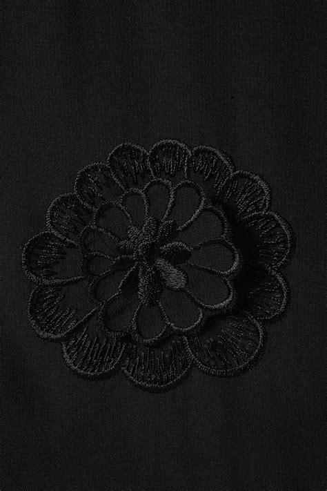 Black Flower Embroidery Depw030 lyst topshop flower embroidered peplum top in black