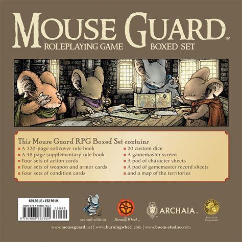 mouse guard roleplaying box set 2nd ed preorders for mouse guard rpg boxed set 2nd ed