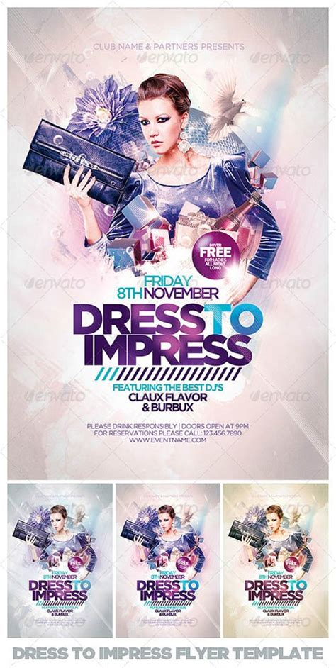 Flyer Templates Graphicriver Dress To Impress Flyer Template Graphicflux Graphicriver Flyer Template