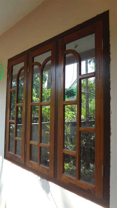 kerala model wooden window door designs wood