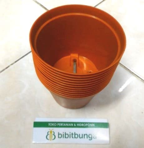 Pot Bunga Plastik 35cm 1 pot bunga vanda 850 merah bata bibitbunga