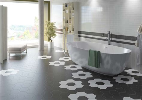 10x10 Badezimmer Layout by Hexatile Płytki Heksagonalne Planeta Dom
