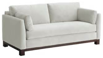avalon apartment size sofa white 57x37x30 modern