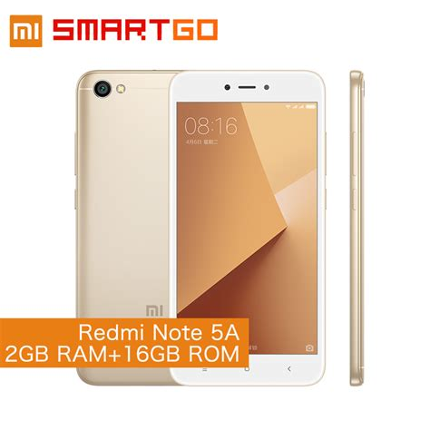 Xiaomi Redmi Note 5a Ram 2gb Rom 16gb Garansi Distributor 1 xiaomi redmi note 5a 2gb ram 16gb rom cellphone note 5 a