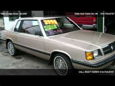 dodge aries america state auto sales inc