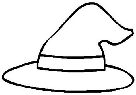 Witch Hat Coloring Page Clipart Best Clipart Best Witch Hat Coloring Page