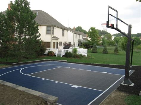 1000 Ideas About Backyard Basketball Court On Pinterest Home Basketball Court Design