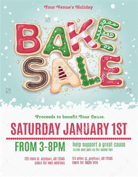 20 Bake Sale Flyer Templates Sle Templates Bake Sale Flyer Template