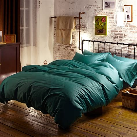 Turquoise King Size Duvet Cover Green Turquoise Cotton Bedding Sets Bed Sheets