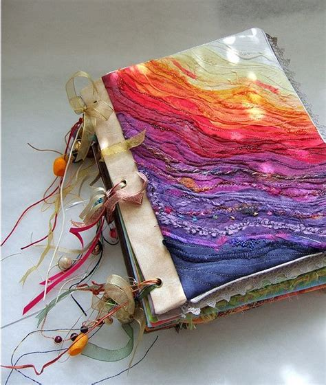 Handmade Book Cover Ideas - front cover of fabric book quot ephemera quot by cecile yadro