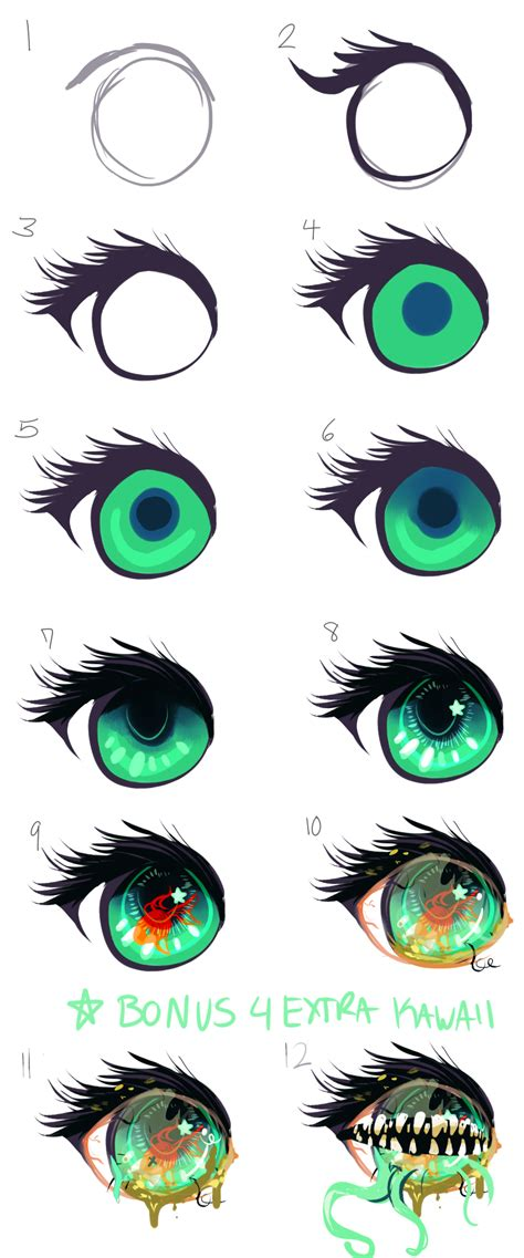pics for gt cute anime eyes png