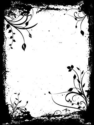 black and white pattern frame vector material_download