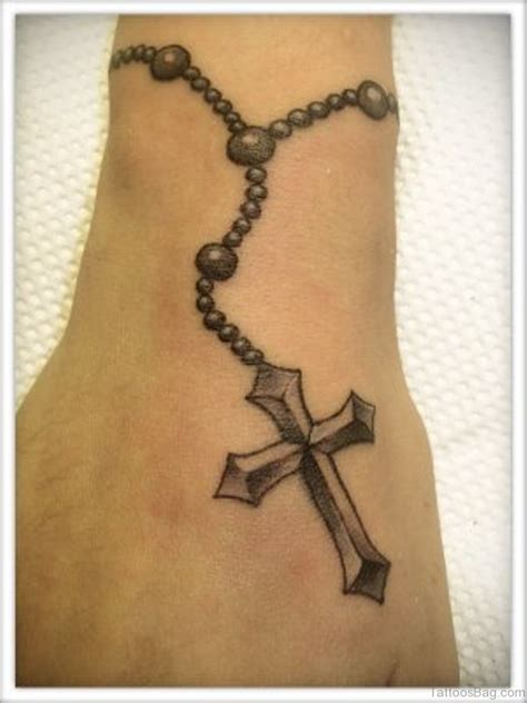 tattoo designs rosary beads cross 80 great cross tattoos for ankle