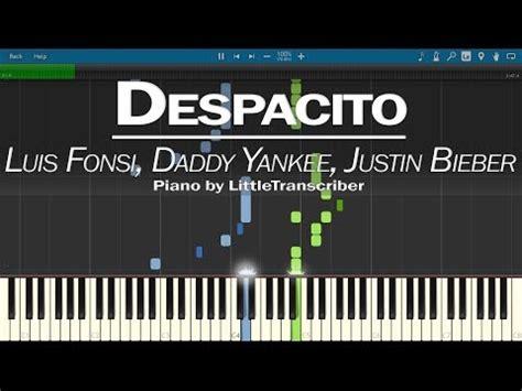 despacito easy lyrics justin bieber despacito piano tutorial easy slow luis fonsi justin