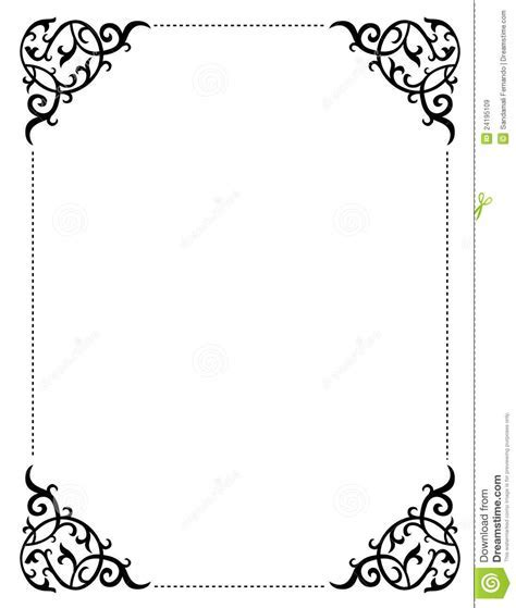 Stock certificate template microsoft word 2018 business cards certificate template microsoft word invitation border frame stock vector illustration of decorative 24195109 yadclub Gallery