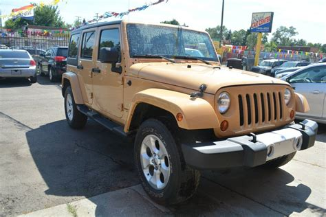 Jeeps For Sale In Michigan 2013 Jeep Wrangler Unlimited For Sale In Detroit