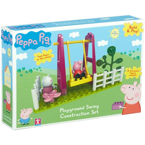 peppa pig swing peppa pig construction playground swing set new ebay