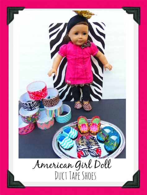 diy american doll shoes pics for gt duct crafts for american dolls