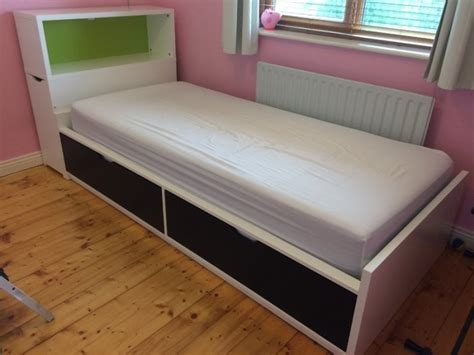 great idea use a flaxa headboard storage unit as a side single bed with storage flaxa ikea for sale in