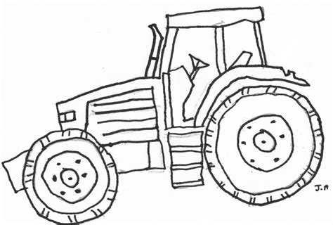 easy tractor coloring pages easy john deere tractor drawing coloring pages of john