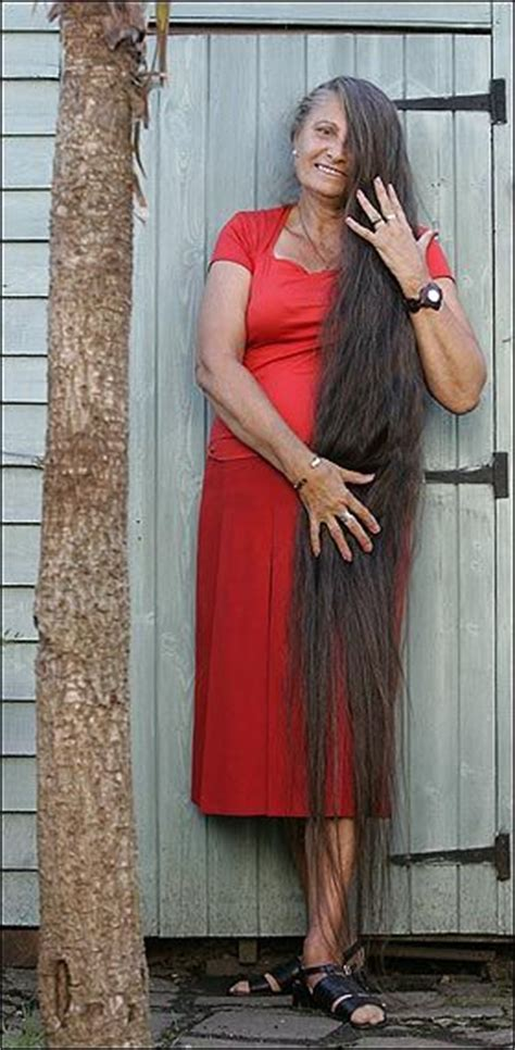 70 Yr Old Woman With Long Hair | 70 years old woman who has long hair down to the ground