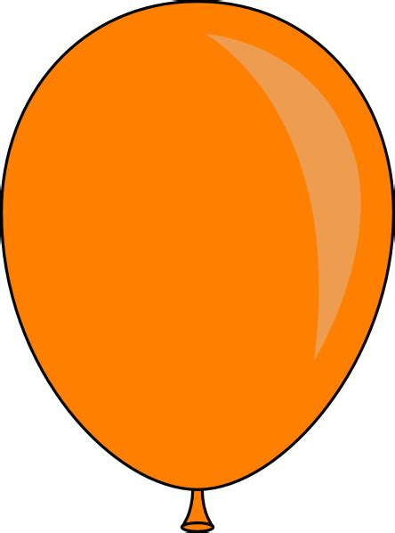 Orange balloon clipart clipart library free clipart images clip art library