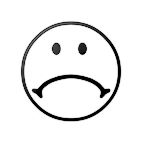 black and white smiley face black and white sad face clipart best