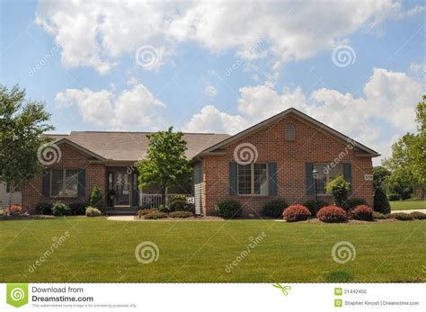 typical brick ranch style home stock photo image 21442450