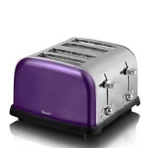 Dualit Toaster 2 Slice Swan Metallic 4 Slice Toaster Purple Iwoot