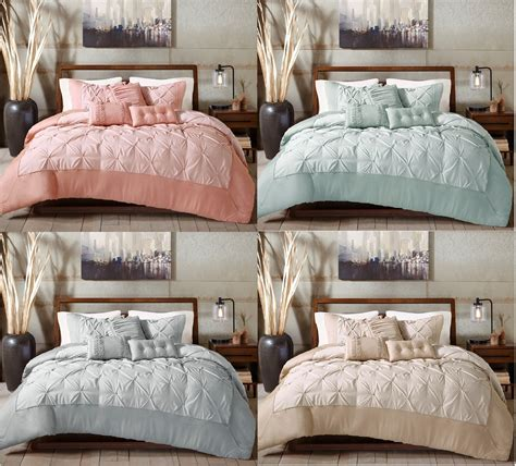 3 decorative pillows with soft fluffy comforter set and