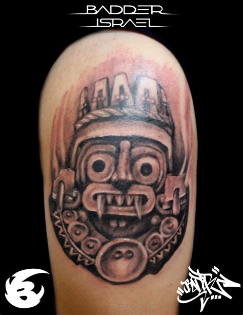 aztec gods tattoos aztec god tlaloc by badder israel tattoos
