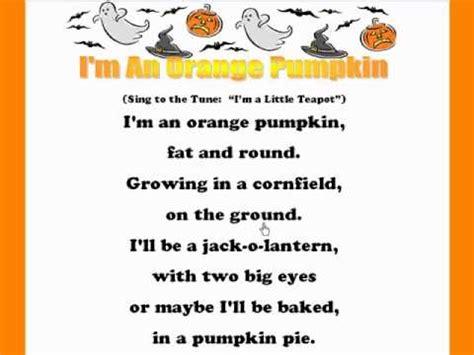 i'm an orange pumpkin /kids halloween rhymes and songs