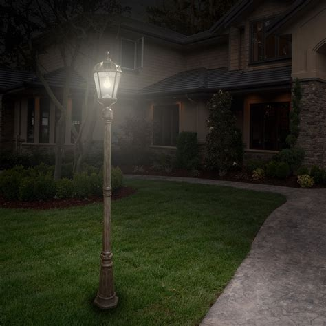 Solar Outdoor Light Post Royal Solar L Post Light Bronze