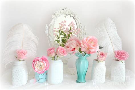 shabby chic pictures prints dreamy shabby chic pink white floral decor