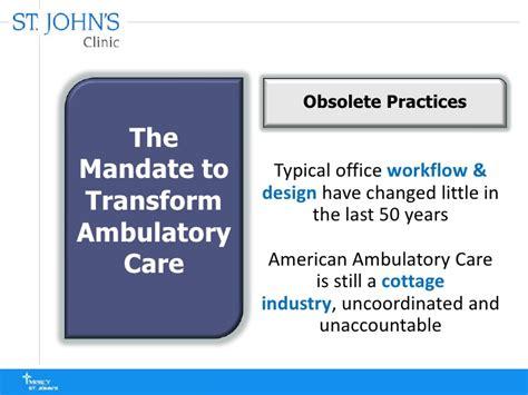 ambulatory workflow ambulatory health care facility of the future integrating