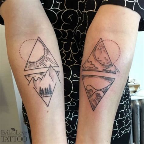 night and day tattoo 1000 ideas about on