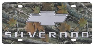 chevy silverado license plate chrome logo and lettering